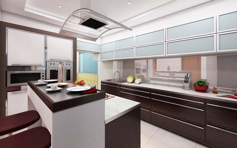Modular compounded kitchen by Karan patel