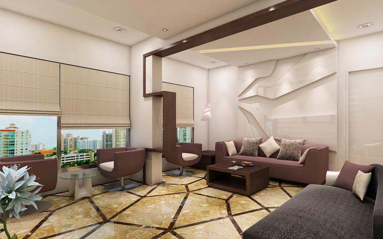 Creative living room ideas by Karan patel Living-room | Interior Design Photos & Ideas