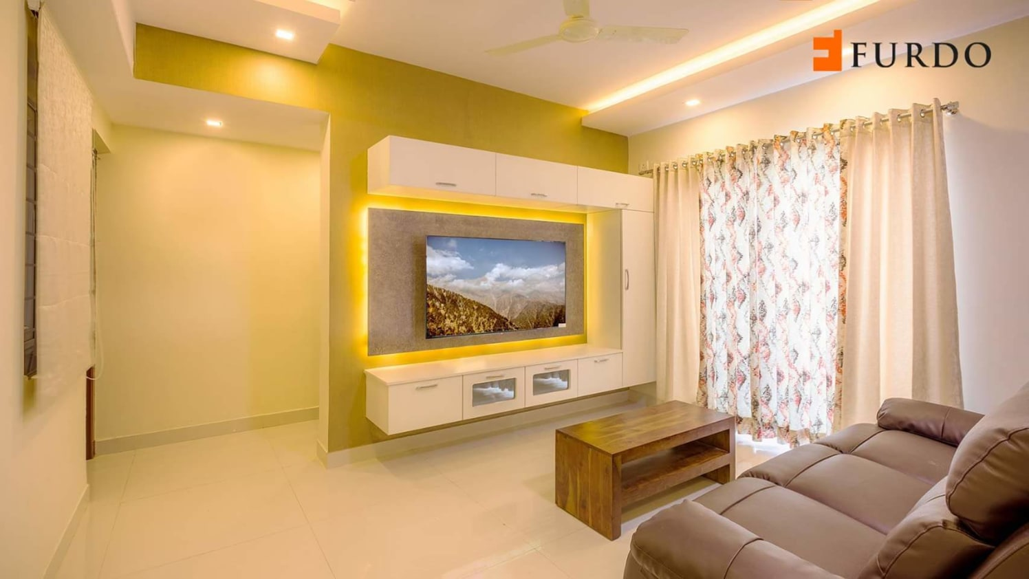 Bright living room by Mehul Diwani Living-room | Interior Design Photos & Ideas