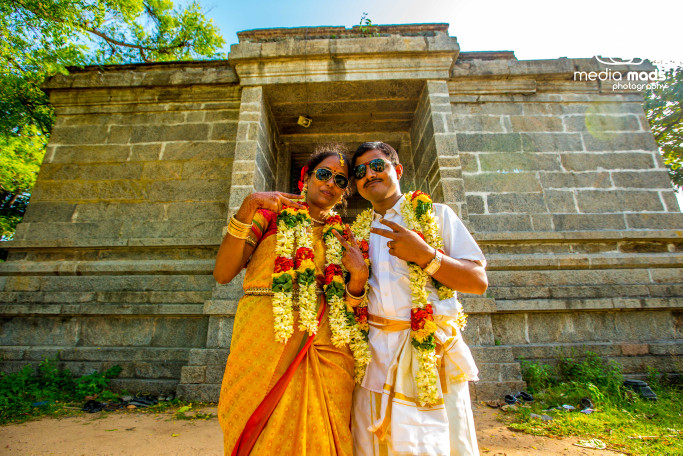 A classic pose by the charming couple by Media Mads Wedding-photography   Weddings Photos & Ideas