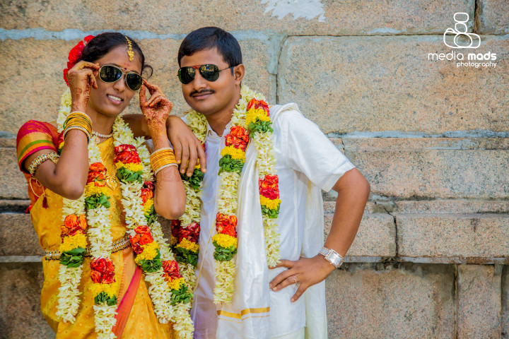 The couple with their matching black shades by Media Mads Wedding-photography | Weddings Photos & Ideas