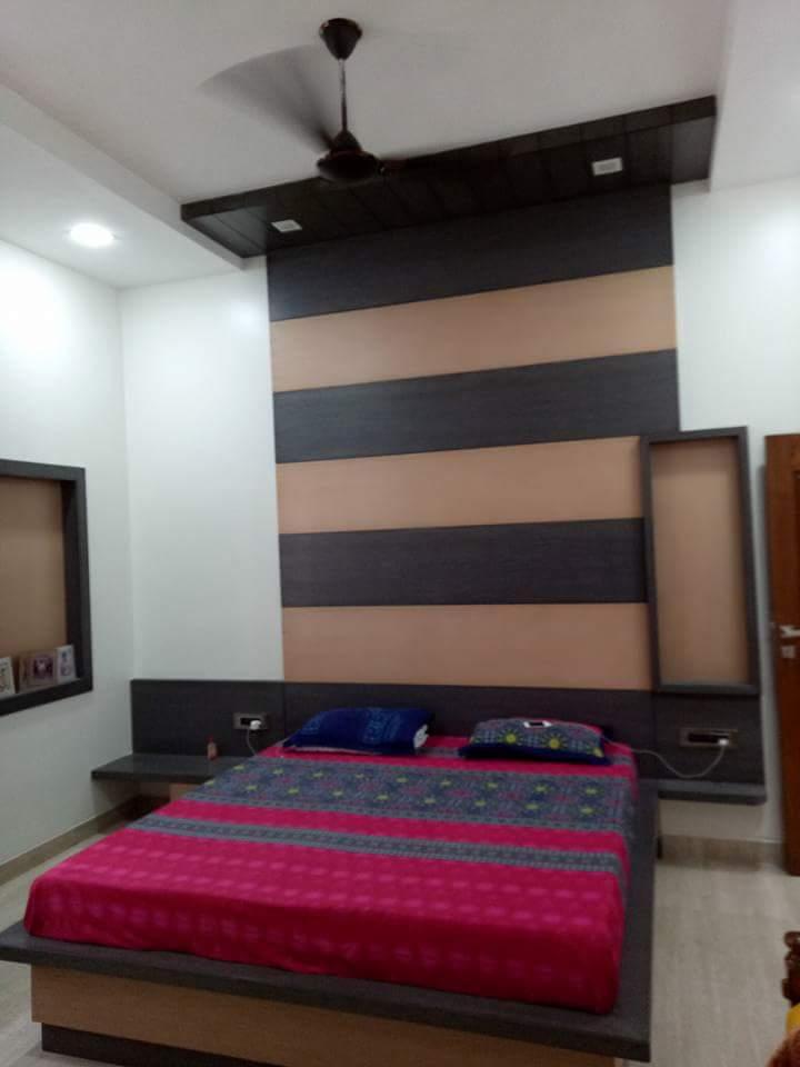 Modern master bedroom decor ideas by Surojit Roy Bedroom | Interior Design Photos & Ideas