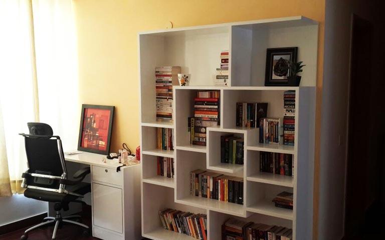 Neat study table decor by Designmantra Indoor-spaces | Interior Design Photos & Ideas