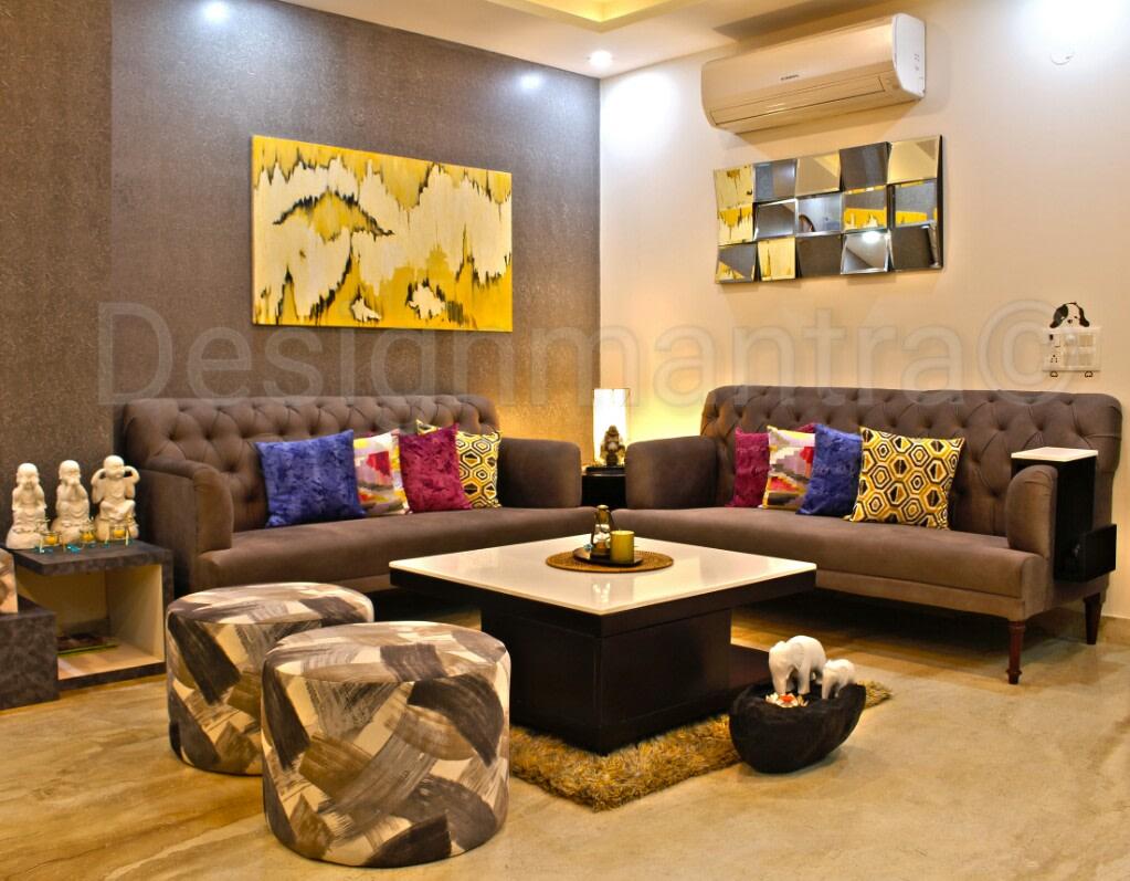 Elegant modern living room decor by Designmantra Living-room | Interior Design Photos & Ideas