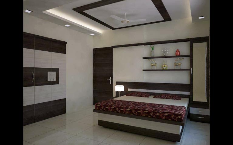 Spacious bedroom by Siffat Interiors Bedroom | Interior Design Photos & Ideas