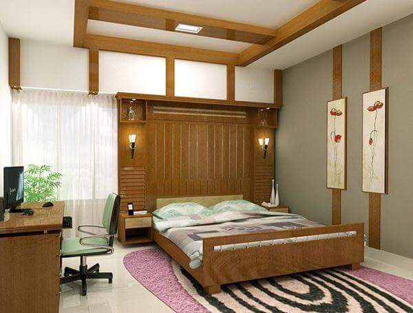 Brown luxury bedroom by Abhay Interior and Construction Bedroom | Interior Design Photos & Ideas