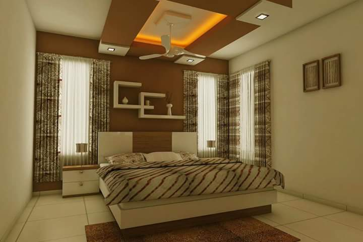 Spacious bedroom by Abhay Interior and Construction Bedroom | Interior Design Photos & Ideas