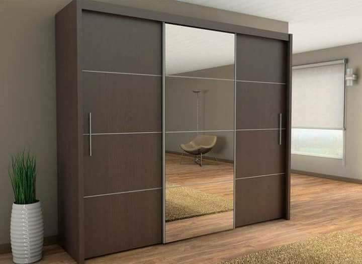 Brown beautiful cupboard by Abhay Interior and Construction Bedroom | Interior Design Photos & Ideas