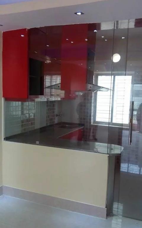 L-shaped modular kitchen by DERA Modular-kitchen Modern | Interior Design Photos & Ideas