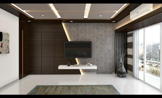 Elegant TV cabinet decor by SR Xclusive Interiors & Design Living-room Modern | Interior Design Photos & Ideas