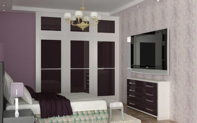 3d design of contemporary bedroom by The Midas Touch Interiors