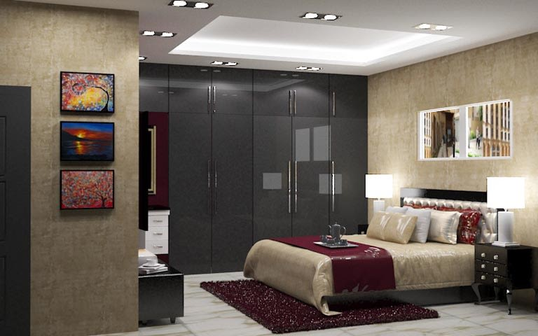 3D contemporary bedroom design by The Midas Touch Interiors Bedroom | Interior Design Photos & Ideas