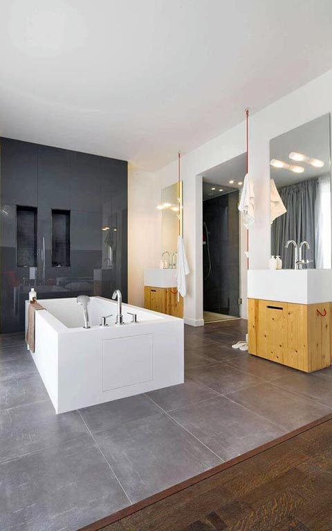 Washroom of modern design by The Midas Touch Interiors Bathroom | Interior Design Photos & Ideas