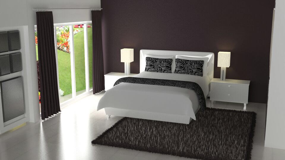 3D contemporary bedroom design by The Midas Touch Interiors