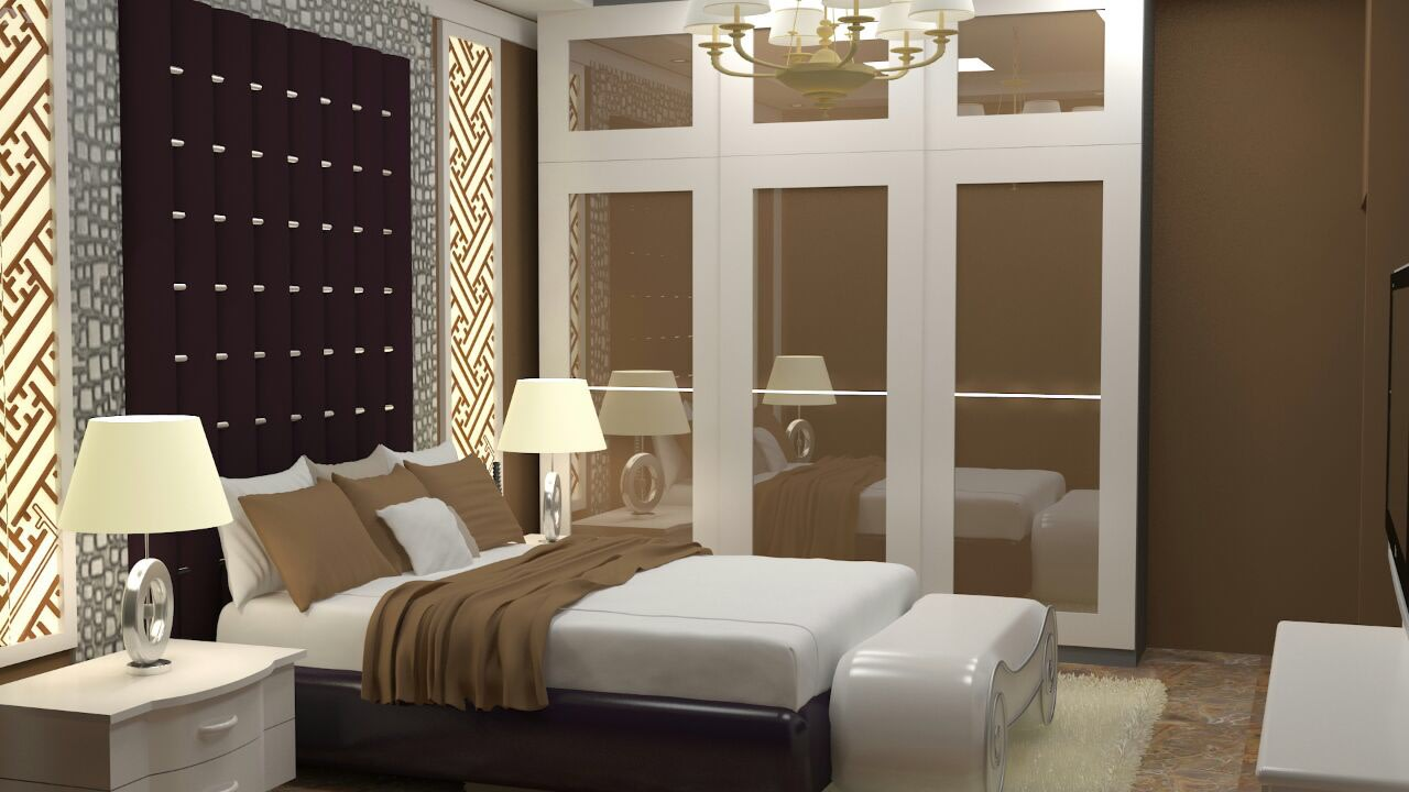3D contemporary bedroom by The Midas Touch Interiors Bedroom | Interior Design Photos & Ideas