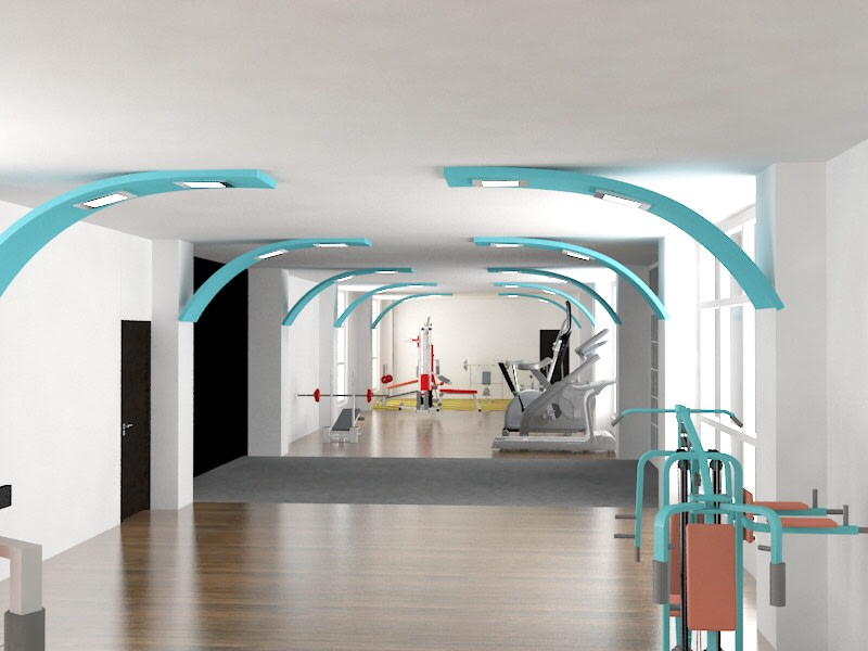 Gym area! by The Midas Touch Interiors