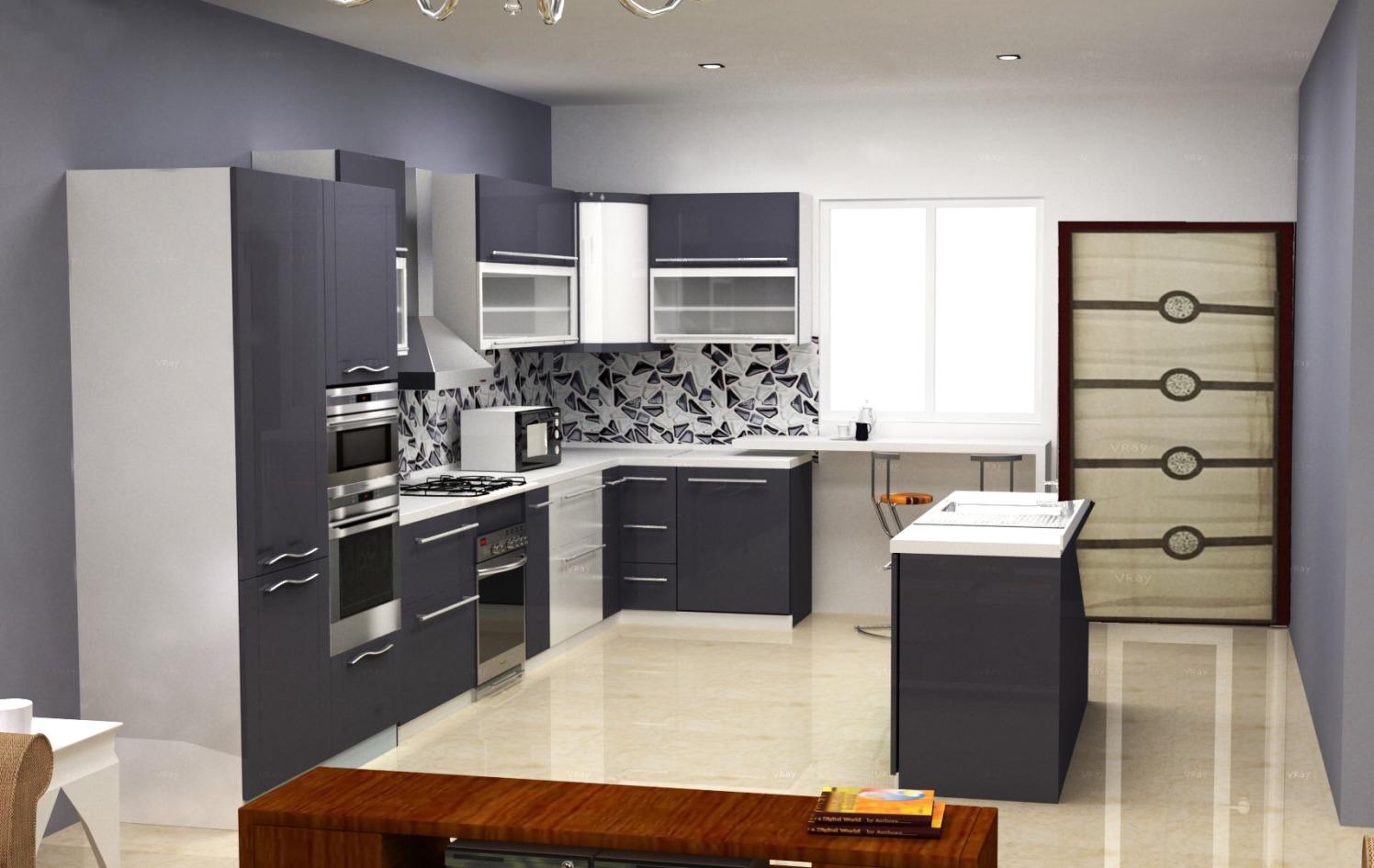 Kitchen 3D design! by The Midas Touch Interiors Modular-kitchen | Interior Design Photos & Ideas