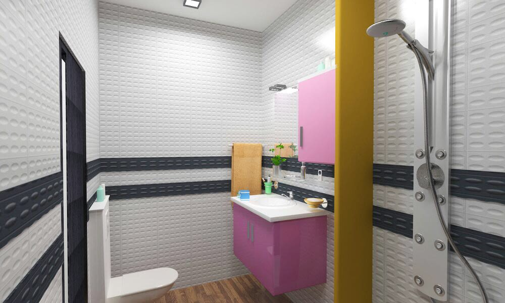 Washroom 3D design! by The Midas Touch Interiors Bathroom | Interior Design Photos & Ideas