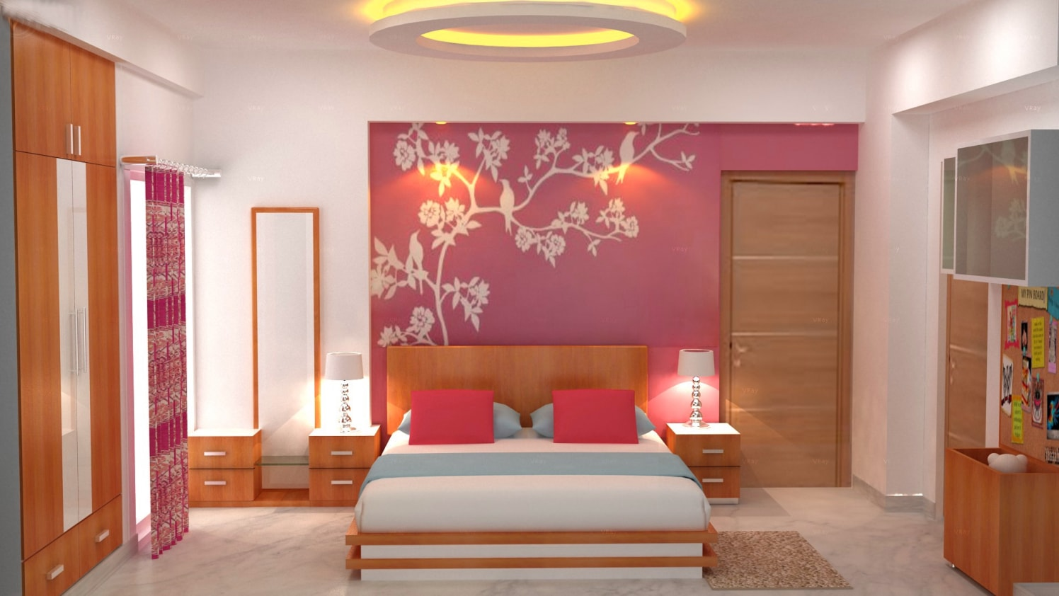 Pink tones in a kids bedroom! by The Midas Touch Interiors Bedroom   Interior Design Photos & Ideas