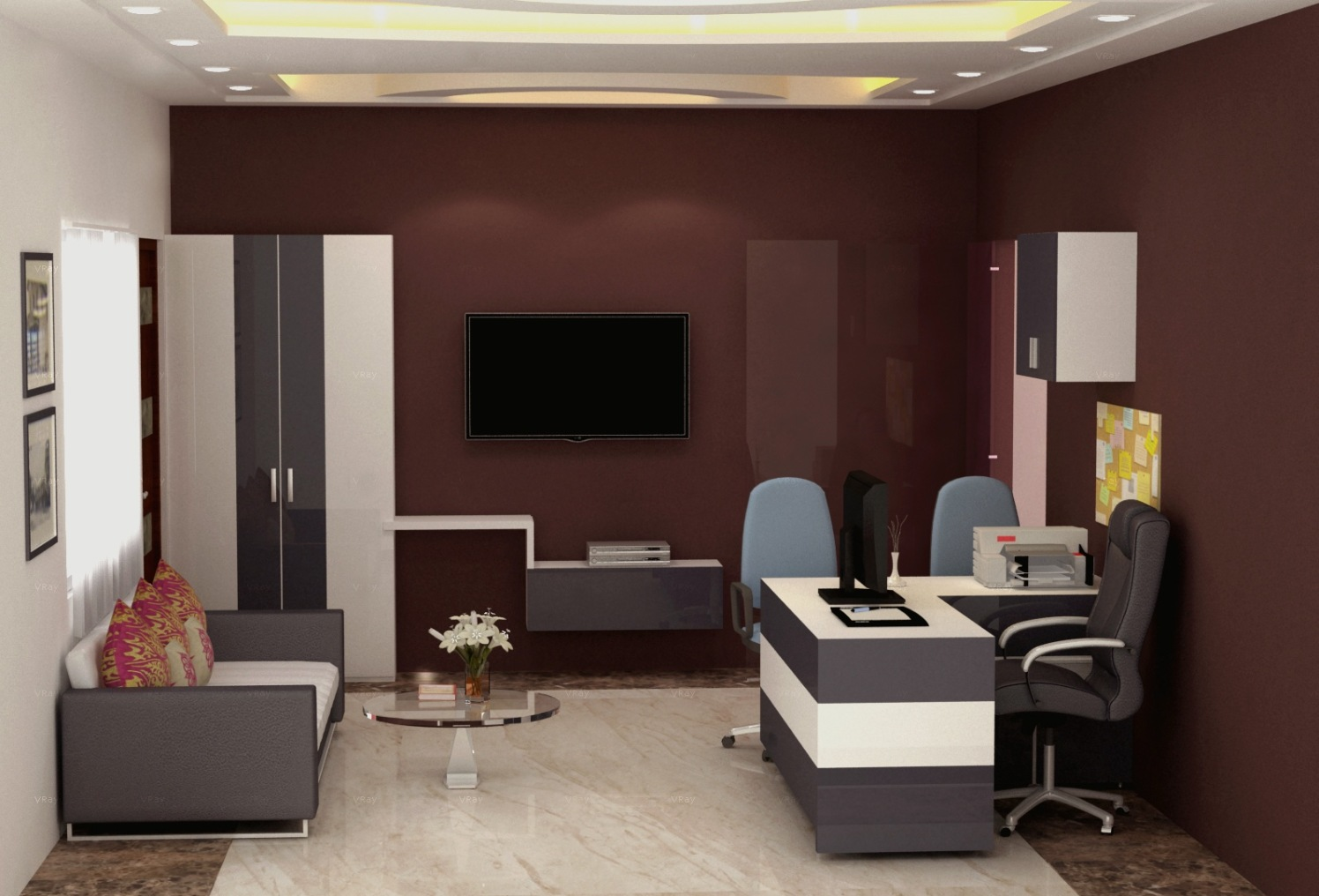 Office space! by The Midas Touch Interiors   Interior Design Photos & Ideas