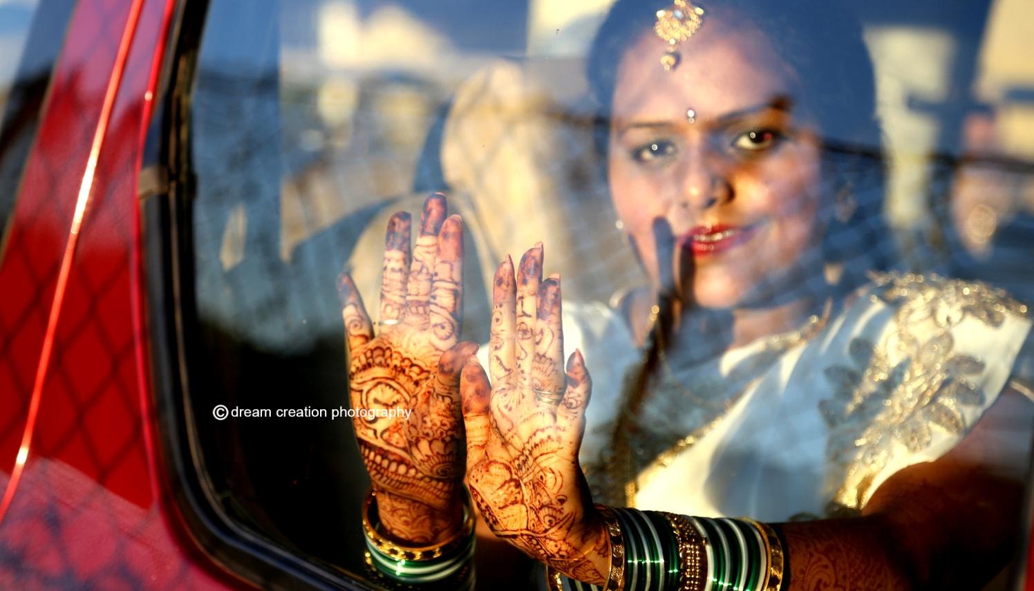 Elegant henna hands of the bride by Dream creation Omerga Bridal-mehendi | Weddings Photos & Ideas