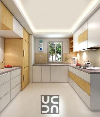 Parallel modular kitchen by Design Elegance Interior Design & Architecture Modular-kitchen Modern | Interior Design Photos & Ideas
