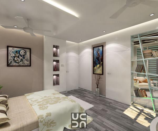 Neutral tone master bedroom decor by Design Elegance Interior Design & Architecture Bedroom Modern | Interior Design Photos & Ideas