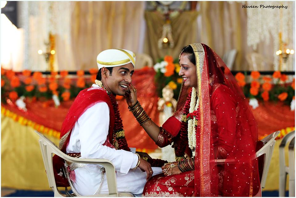 Candid bridal and groom fun pose by Naveen Photography Wedding-photography | Weddings Photos & Ideas