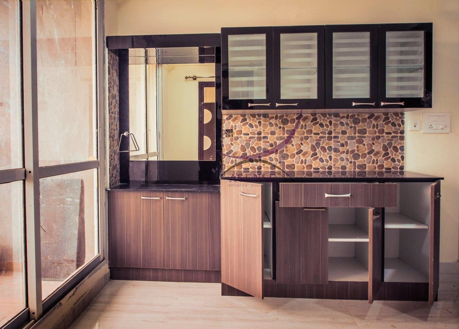 Kitchen Wooden Cabinets by Snigdha Ghosh Modular-kitchen Contemporary | Interior Design Photos & Ideas