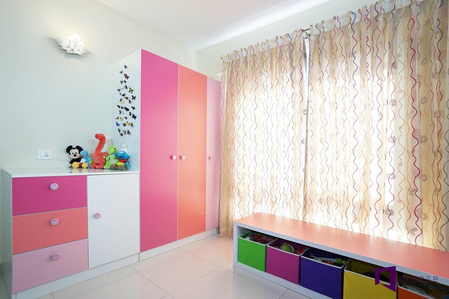 Pink ,Orange And Magenta  Wardrobe And Cabinets by Snigdha Ghosh Bedroom Contemporary | Interior Design Photos & Ideas