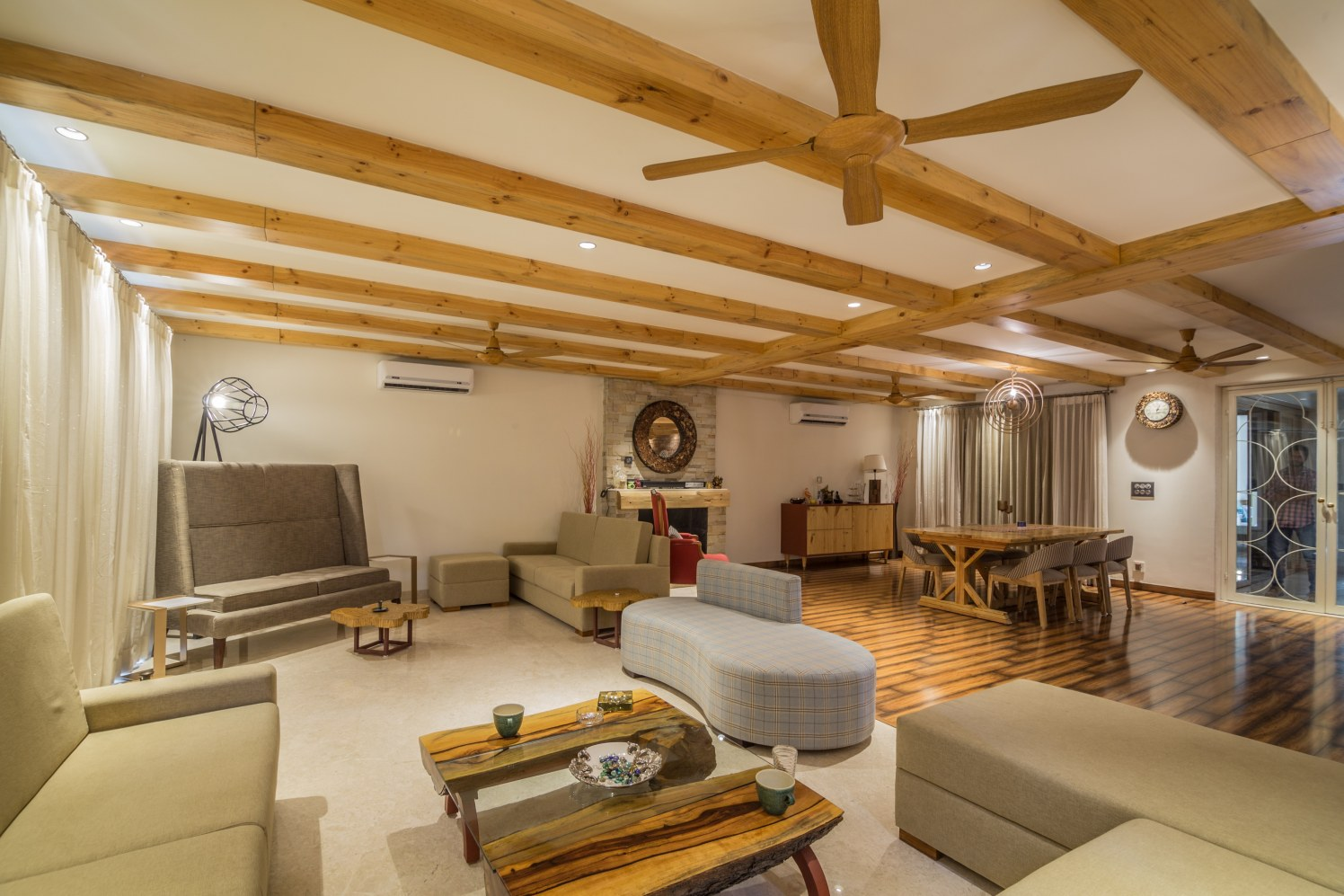 The great interior with wooden ceiling! by RopedDesign Living-room | Interior Design Photos & Ideas