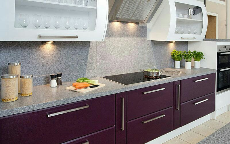 L-shaped modular kitchen by Sweethomez Modular-kitchen Modern | Interior Design Photos & Ideas