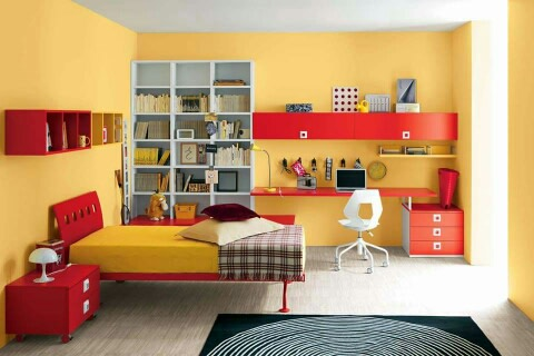 Yellow theme master bedroom decor by Sweethomez Bedroom | Interior Design Photos & Ideas