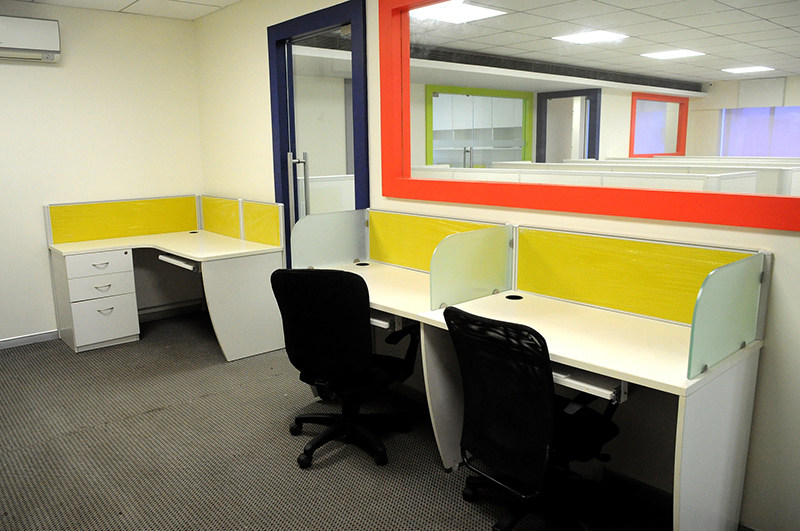 Yellow coloured compounded office by Vilankars Interior designing & IT consultant Contemporary | Interior Design Photos & Ideas