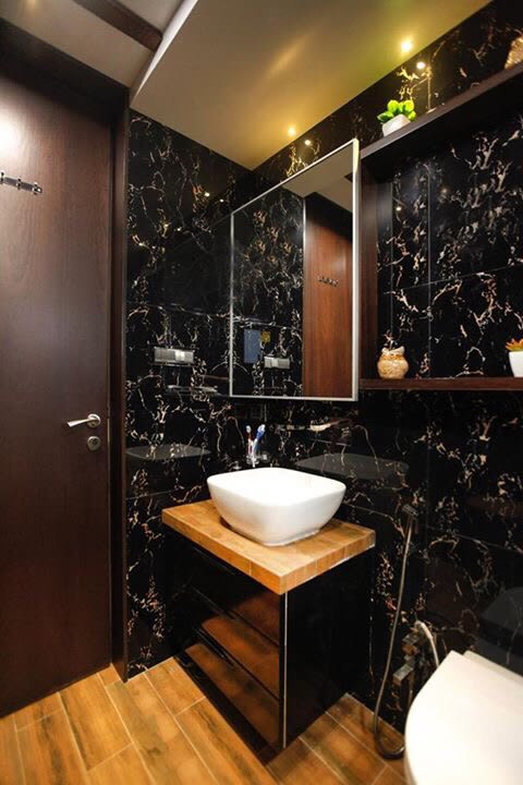 Black marble bathroom decor by Artistic Illusions Bathroom Modern | Interior Design Photos & Ideas