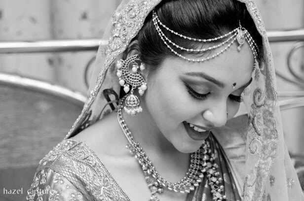 Black and White Bridal Shot by Hazel Captures Wedding-photography | Weddings Photos & Ideas