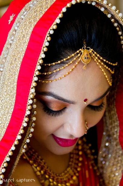 Golden Bridal Maang Tikka by Hazel Captures Wedding-photography | Weddings Photos & Ideas