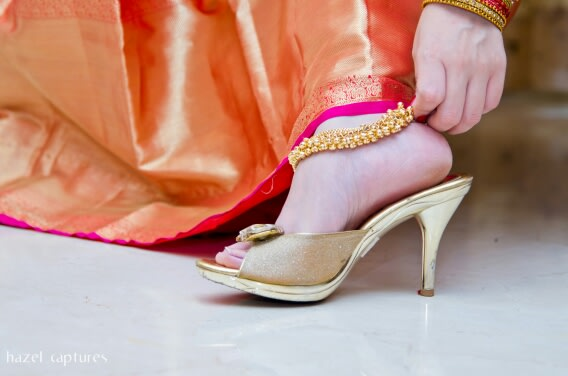 Golden Footwear Accessories by Hazel Captures Wedding-photography | Weddings Photos & Ideas