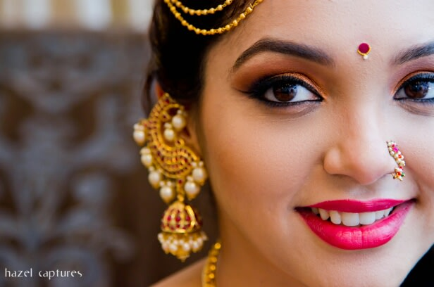 Gold and Gemstones Earing by Hazel Captures Wedding-photography | Weddings Photos & Ideas