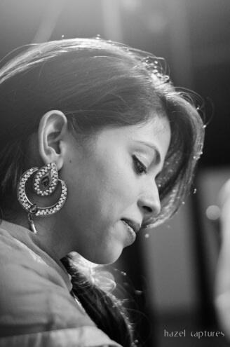Black and White Earring shot by Hazel Captures Wedding-photography | Weddings Photos & Ideas