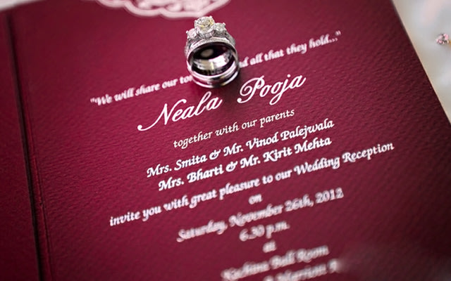 Red Wedding Invitation Card by Picture perfect photography  Bridal-jewellery-and-accessories | Weddings Photos & Ideas