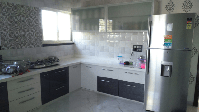 L-shaped modular kitchen design by Legend Interiors Modular-kitchen Modern | Interior Design Photos & Ideas