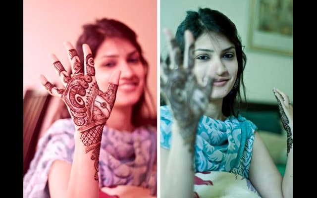 Peacock inspired heena! by Kuntal Mukherjee Photography Wedding-photography | Weddings Photos & Ideas
