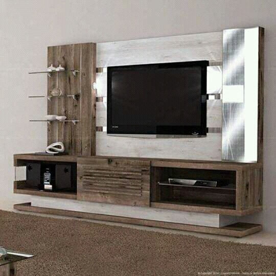 A TV And Display Unit! by Florence Management Services Living-room | Interior Design Photos & Ideas