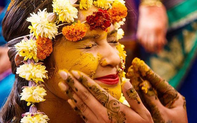A Haldi Shot full of love by Flgroe Studios Wedding-photography | Weddings Photos & Ideas