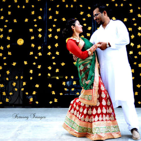 Dazzlling decor ideas for pre-wedding photoshoot by Karving Images Wedding-photography | Weddings Photos & Ideas