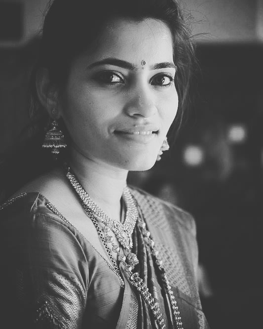 Bride Portrait With Classic Black and White Filter by Priyanka Wedding-photography | Weddings Photos & Ideas