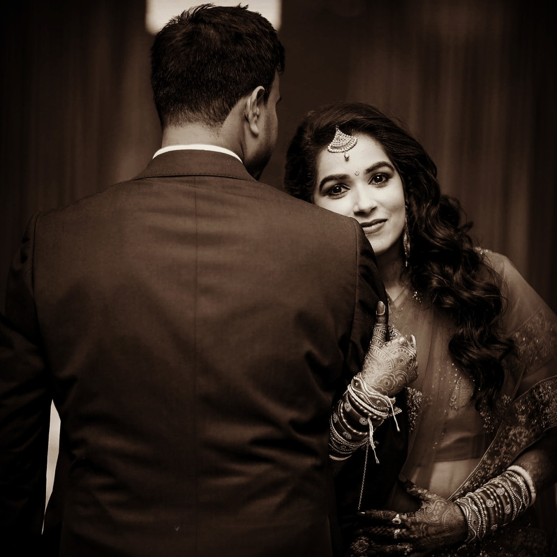 Classic Bride and Groom Pose by Priyanka Wedding-photography | Weddings Photos & Ideas