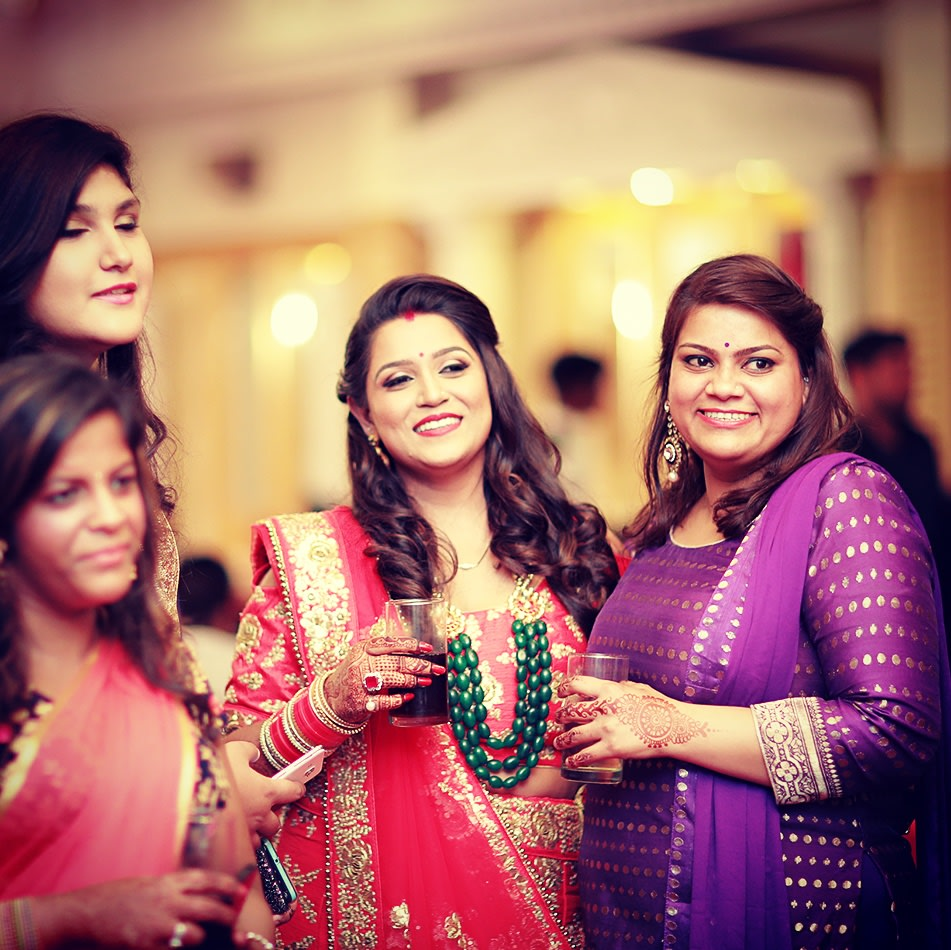 Bride and Friends of the Bride Pose by Priyanka Wedding-photography Wedding-hairstyles | Weddings Photos & Ideas