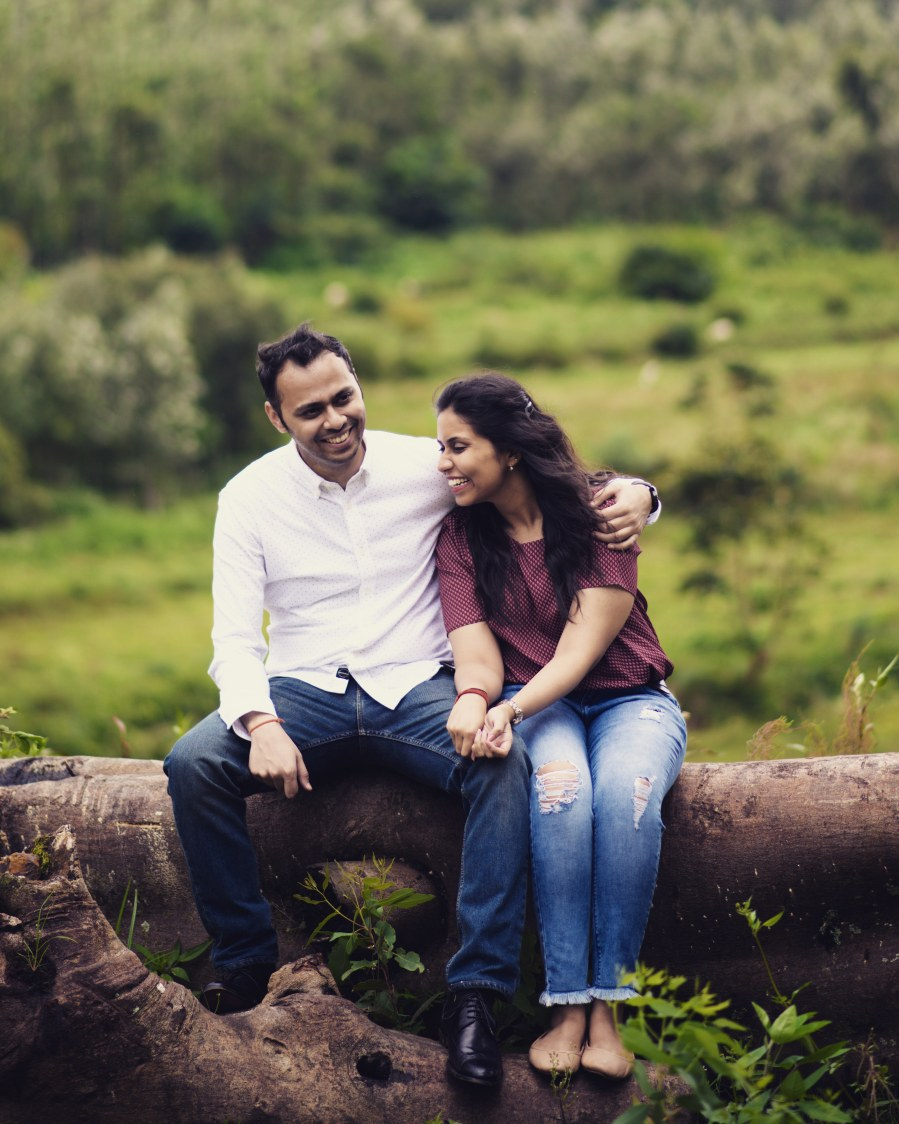 Bride and Groom To-Be Share Some Candid Moments Amidst Nature by Priyanka Wedding-photography | Weddings Photos & Ideas